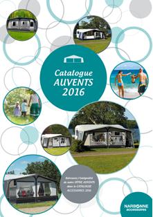 Couverture Catalogue Auvents 2016
