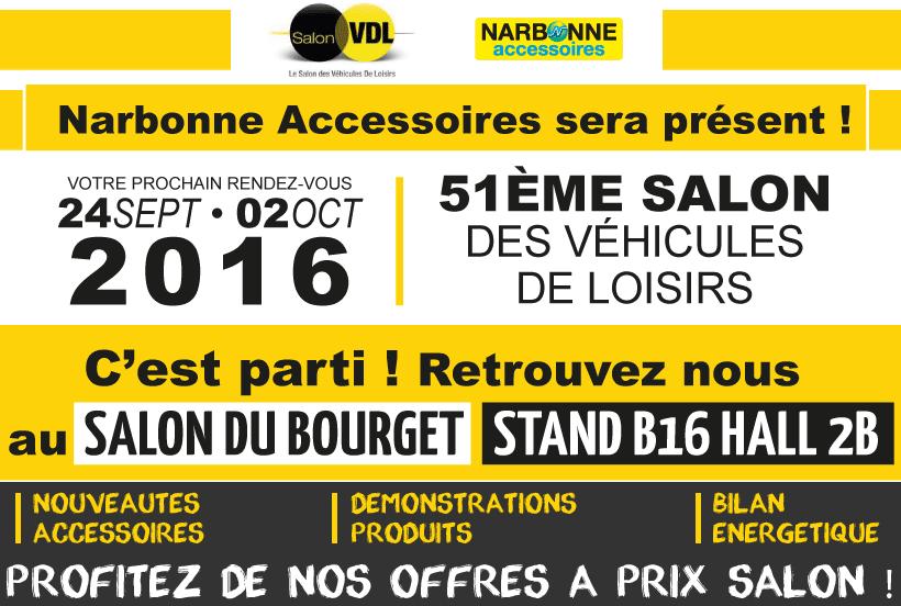 Narbonne Accessoires au 51e Salon du Véhicule de Loisirs du Bourget
